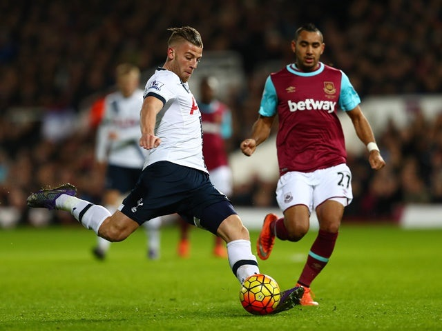 Toby Alderweireld of Tottenham Hotspur and Dimitri Payet of West Ham United on March 2, 2016