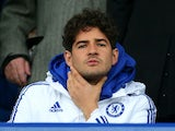 Alexandre Pato puts from the sidelines during the FA Cup game between Everton and Chelsea on March 12, 2016