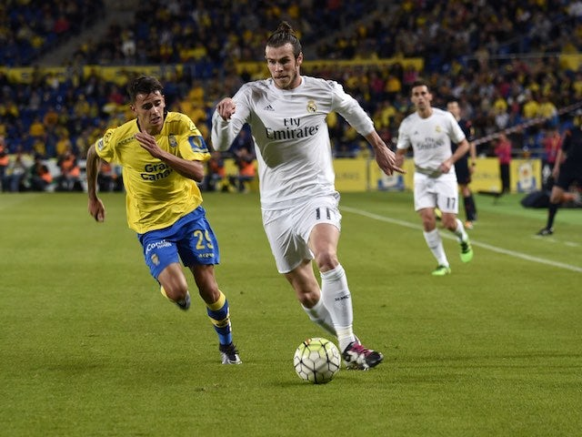 Gareth Bale in action during the La Liga game between Las Palmas and Real Madrid on March 13, 2016