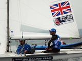 Luke Patience and Elliot Willis of Great Britain compete in the 470 Men class of the ISAF Sailing World Cup on June 12, 2015