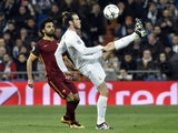 Mohamed Salah and Gareth Bale in action during the Champions League game between Real Madrid and Roma on March 8, 2016