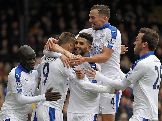 Result: Riyad Mahrez fires Leicester eight points clear