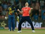 BEN STOKES celebrates winning the World Twenty20 game between England and Sri Lanka on March 26, 2016