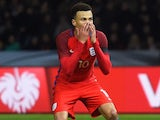Dele Alli misses the chance to nab the winner during the international friendly between Germany and England on March 26, 2016