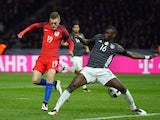Jamie Vardy sends in the equaliser during the international friendly between Germany and England on March 26, 2016
