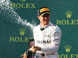 Nico Rosberg disintegrates after winning the Australian Grand Prix on March 20, 2016