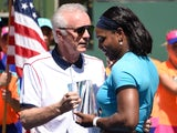 Indian Wells director Raymond Moore next to Serena Williams on March 20, 2016