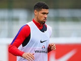 Ruben Loftus-Cheek in action during an England U21 training session on March 24, 2016