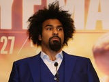 David Haye and his afro at a press conference on March 30, 2016