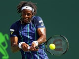 Gael Monfils in action at the Miami Open on March 31, 2016