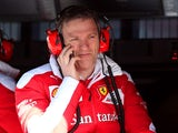 James Allison, technical director of Ferrari sits on the pit wall during day four of F1 winter testing at Circuit de Catalunya on March 4, 2016