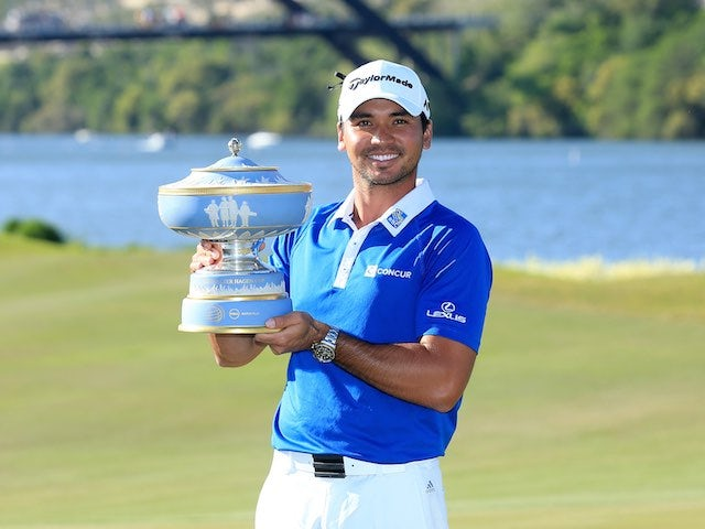 Jason Day poses with the trophy after winning the WGC-Dell Match Play on March 27, 2016
