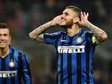 Mauro Icardi celebrates scoring a penalty during the Serie A match between Inter and Torino on April 3, 2016