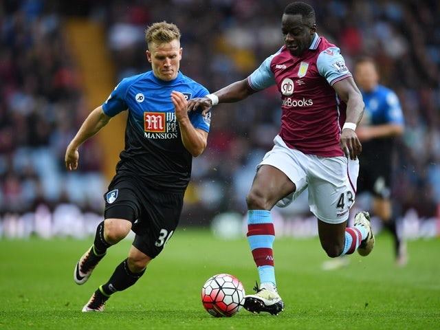 Ally Cissokho and Matt Ritchie during the Premier League match between Aston Villa and Bournemouth on April 9, 2016