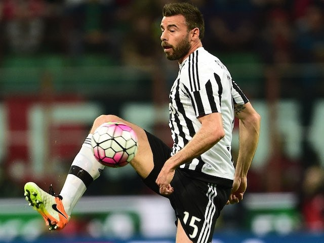 Andrea Barzagli in action during the Serie A game between Milan and Juventus on April 9, 2016