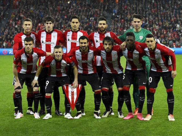 The Athletic starting XI in the Europa League quarter-final between Athletic Bilbao and Sevilla on April 7, 2016