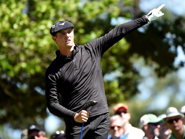 Amateur Bryson DeChambeau in action during round three of The Masters on April 9, 2016