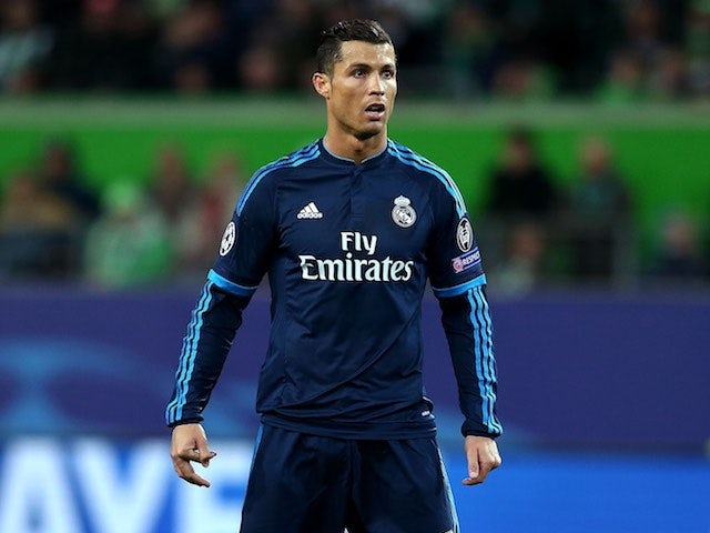 Cristiano Ronaldo looks downbeat during the Champions League quarter-final between Wolfsburg and Real Madrid on April 6, 2016