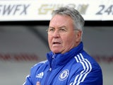 Big bugger Guus Hiddink watches on during the Premier League game between Swansea City and Chelsea on April 9, 2016