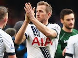 Harry Kane applauds at the end of the Premier League game between Tottenham Hotspur and Manchester United on April 10, 2016