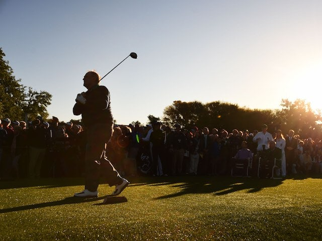 Honorary starter Jack Nicklaus gets the action underway on the first day of The Masters on April 7, 2016