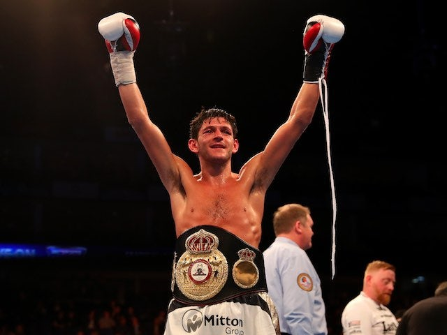 Jamie McDonnell celebrates defeating Fernando Vargas at The O2 on April 9, 2016