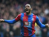 Jason Puncheon celebrates scoring during the Premier League match between Crystal Palace and Norwich City on April 9, 2016