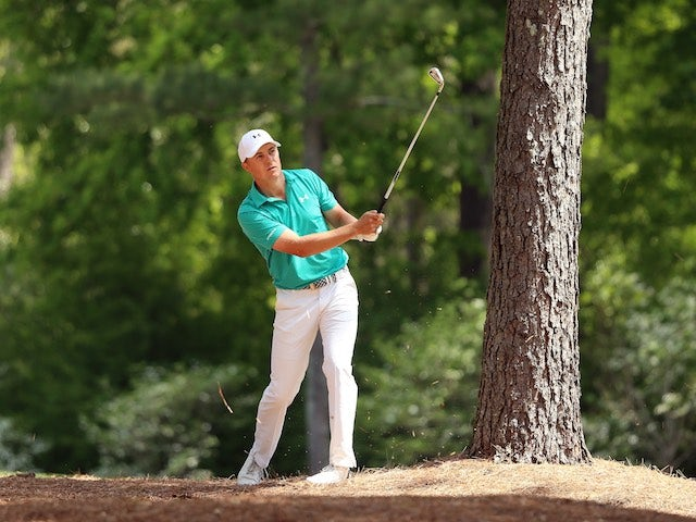 Jordan Spieth in action during the first round of The Masters on April 7, 2016
