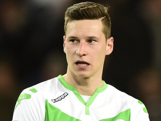 Julian 'no means no' Draxler watches on during the Champions League quarter-final between Wolfsburg and Real Madrid on April 6, 2016