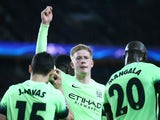Kevin de Bruyne looks positively smouldering as he celebrates scoring during the Champions League quarter-final between Paris Saint-Germain and Manchester City on April 6, 2016