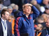 Louis van Gaal looks distraught during the Premier League game between Tottenham Hotspur and Manchester United on April 10, 2016