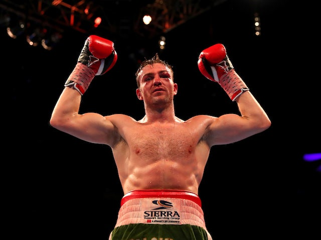 Matthew Macklin, aka 'The Roscommon Rock', celebrates victory over Brian Rose at The O2 on April 9, 2016