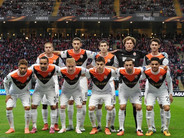 The Shakhtar starting XI for the Europa League quarter-final between Braga and Shakhtar Donetsk on April 7, 2016