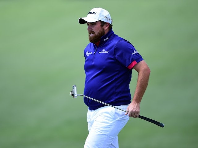 Big unit Shane Lowry in action during the first round of The Masters on April 7, 2016