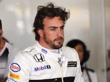 McLaren-Honda's Fernando Alonso prepares to leave the pits during the first practice session for the Formula One Chinese Grand Prix in Shanghai on April 15, 2016