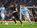 Kevin De Bruyne chases down Thiago Silva during the Champions League quarter-final between Manchester City and Paris Saint-Germain on April 12, 2016
