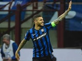 Mauro Icardi celebrates scoring durante la Serie A partita tra Inter e Napoli il April 16, 2016