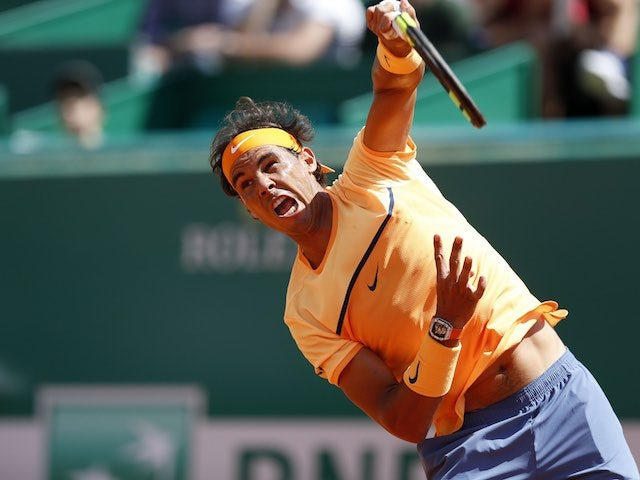 Rafael Nadal in action at the Monte Carlo Masters on April 13, 2016