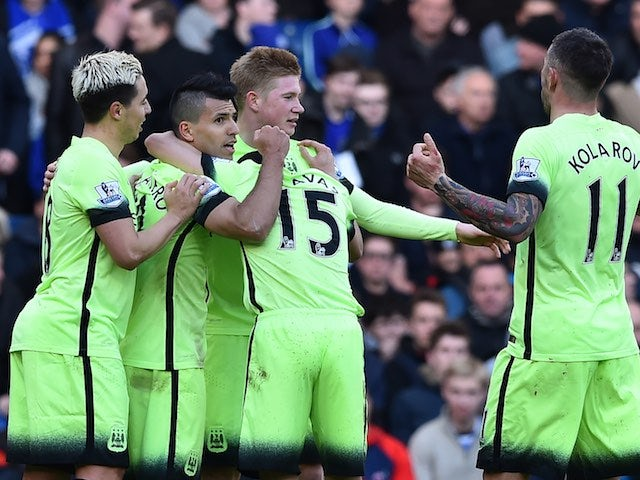 Result: Sergio Aguero hat-trick lifts Man City up to third