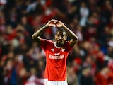 Benfica's Talisca celebrates after equalising on the night against Bayern Munich in the Champions League quarter-finals on April 13, 2016