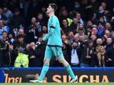 Thibaut Courtois sees red during the Premier League game between Chelsea and Manchester City on April 16, 2016