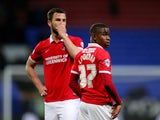 Charlton Athletic's Ademola Lookman looks like a beaten man as his side are relegated from the Championship following a 0-0 draw with Bolton Wanderers