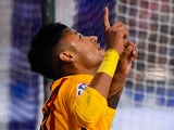 God-fearing Neymar celebrates the eighth during the La Liga game between Deportivo La Coruna and Barcelona on April 20, 2016