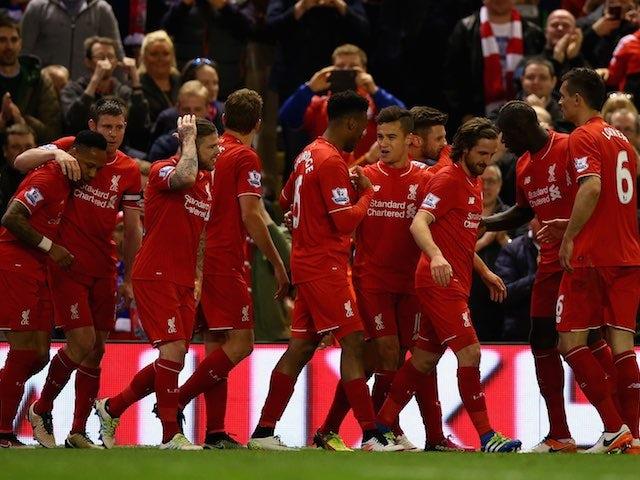 Result: Liverpool thrash 10-man Everton in derby