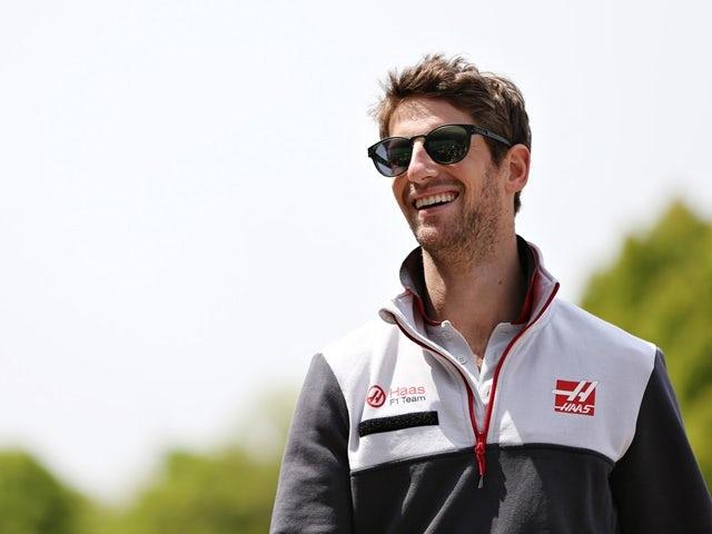 Romain Grosjean of Haas F1 in the paddock ahead of the Formula One Grand Prix of China at Shanghai International Circuit on April 17, 2016