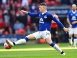 Ross Barkley in action during the FA Cup semi-final between Everton and Manchester United on April 23, 2016