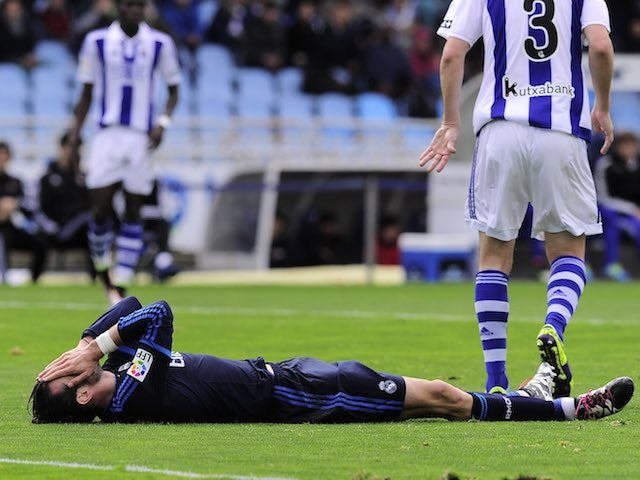 Gareth Bale has a rest during the La Liga game between Real Sociedad and Real Madrid on April 30, 2016