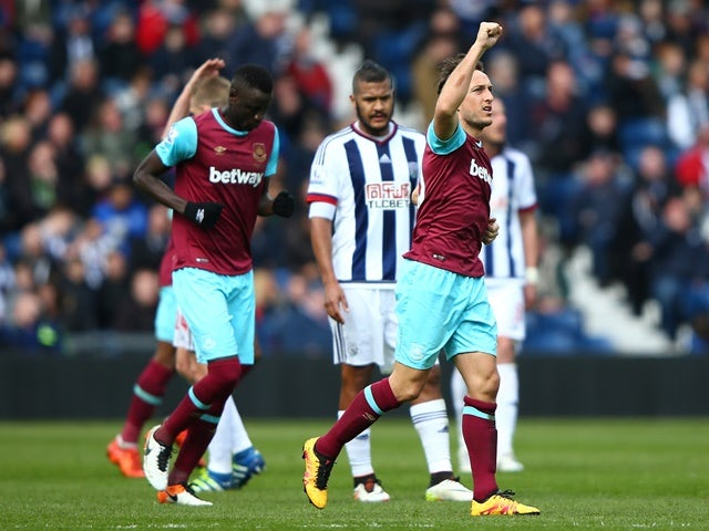 Result: Noble double helps Hammers coast past West Brom
