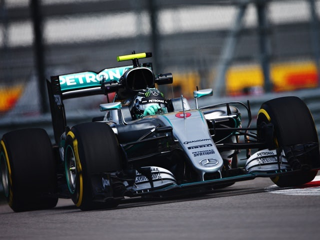 Nico Rosberg of Mercedes during practice for the Formula One Grand Prix of Russia at Sochi Autodrom on April 29, 2016