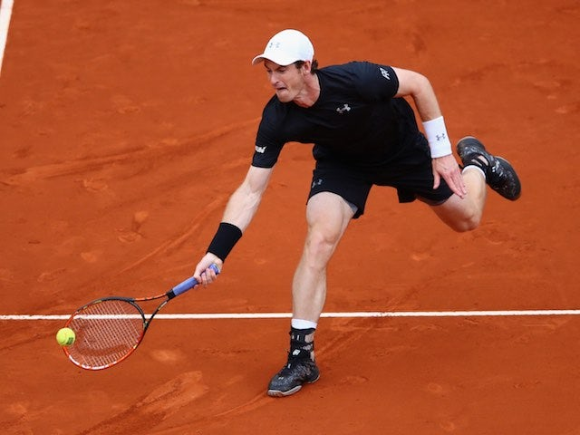 Andy Murray in action during the Madrid Open final on May 8, 2016